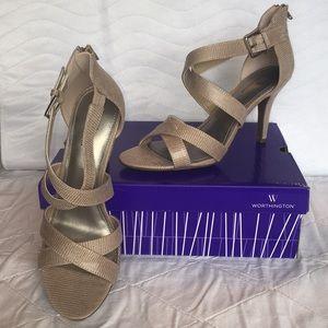 NIB Worthington Cari Womens Heeled Sandals Sz 9.5M